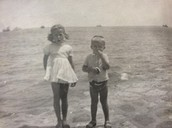 My mom and her brother at the Black Sea