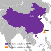Map of two Chinas