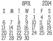April Library Schedule