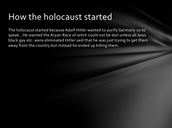 How did the Holocaust start?