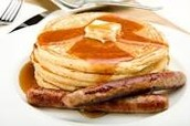 """Enjoy an """"all you care to eat"""" pancake breakfast with real maple syrup!"""