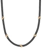 Hematite Link Chain Necklace $15