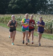 Putting in the miles at practice
