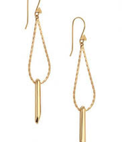 Rebel Drop Earrings - Gold
