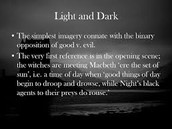 Light / Darkness Imagery