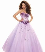 Full Length Lavender Formal Gown
