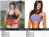 Body fat loss and muscle gain