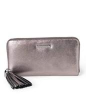 SOLD Mercer Zip Wallet - Pewter Metallic