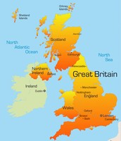 a map of scotland the UK and Irland