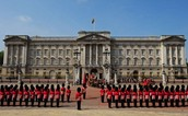 This is a picture of Buckingham Palace in London.