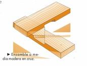 A media madera