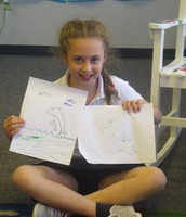 Anslee's drawings for show and tell