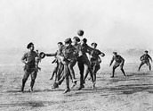 Soldiers playing football