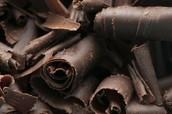 chocolate into a swirl