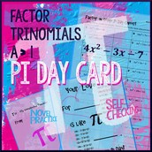 Factoring Trinomials Pi Day Card
