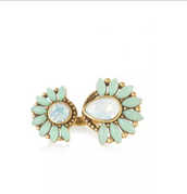 zinnia split ring - adjustable fits sizes 5-9