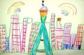 Kindergarten Seattle Skyline