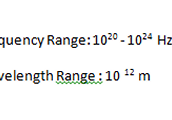 The frequency range and the Wave Length range.