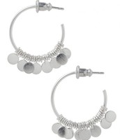 Small Fringe Hoops-Silver