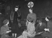 ER in GB meeting with the all-female Air Transport Auxiliary