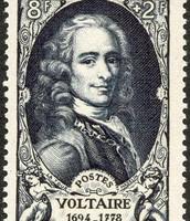 Voltaire on nii kuulus, et teda kujutatakse ka markidel.