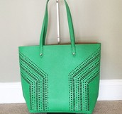 Fillmore Tote - Kelly Green - $75