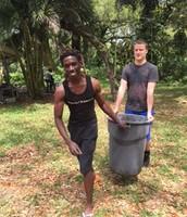 Matthew hauls away debris