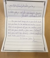 Notes from Parents to their Children for PARCC Testing