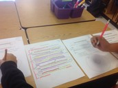 Students use Mentor Texts at Roberts