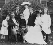 Teddy Roosevelt and his family.
