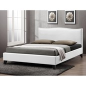 Battersby White Modern Bed With Upholstered Headboard ~ $343.99