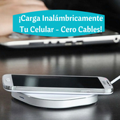 ¡Carga Inalámbricamente Tu Celular – Cero Cables!