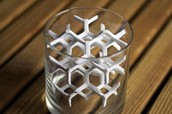 3D printed sugar lattice