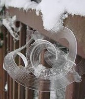 A cool frost flower...