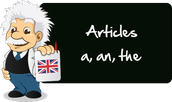 What is the articles of the english language?