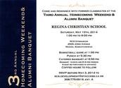 3rd Annual Homecoming & Alumni Banquet