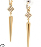 Bianca 2-in-1 Earrings Gold