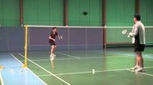 What are the shots used in badminton?