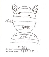"Finn's self portrait and review of ""Zookbreak"""