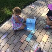 The ocean and sidewalk chalk
