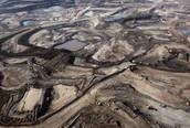 Oil sand site