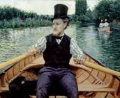 Uomo in canoa, Caillebotte, 1878