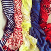 Pops of Color Scarves