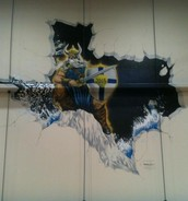Check out the mural in the gym!