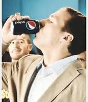 Drew Brees with Pepsi
