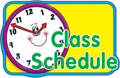 Today begins our new 5th Grade Schedule
