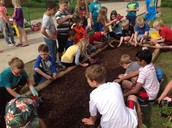 Working in our Garden!