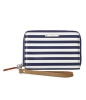 Navy Stripe wallet $35.00