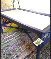 Blue & Metal Coffee Table ~ $225