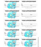 7) Writing down when their next appointment date is.